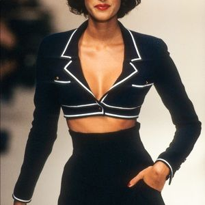 Iconic Chanel Vintage Spring 1995 Cropped Jacket
